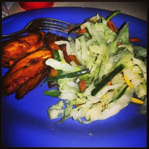 Fried Plantains and Cabbage at The Reak Ting Cafe TheCypherPoetry Jacksonville Fl