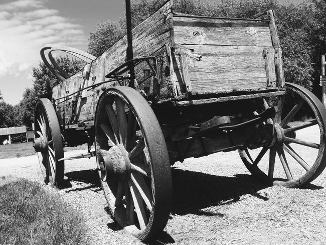 Outdoors Mode Of Transport Transportation Day No People Sky Wagon  Wagon Wheel Old-fashioned Old