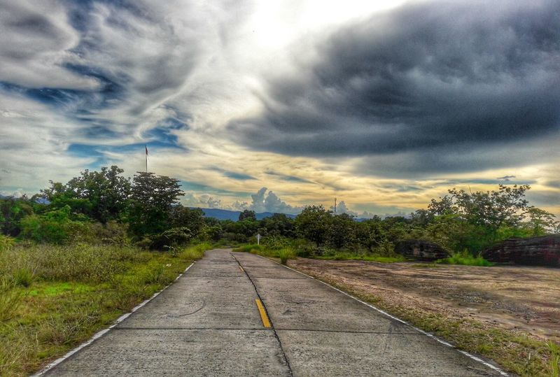 Summer Popular Photos Outdoors No People Eyeem Market Eyemphotography EyeEm Best Shots Nature_collection EyeEm Gallery Nature Sunset Thailand Sisaket Sisaket,thailand Road HDR Hdr_Collection Hdrphotography Color Of Life