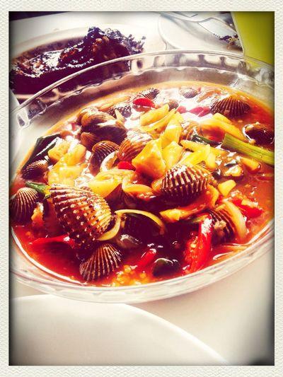 Eating Jakarta Kerang Dara Asam Manis