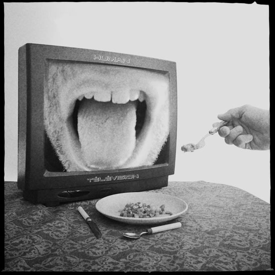 Don't forget. A human television feeds is a happy television!! Surrealism Shootermag NEM GoodKarma IPhoneArtism