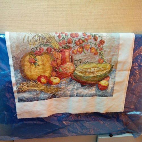 #вышивка #2014 #бабушка вышила Pumpkin 2014 тыквы вышивка бабушка физалис