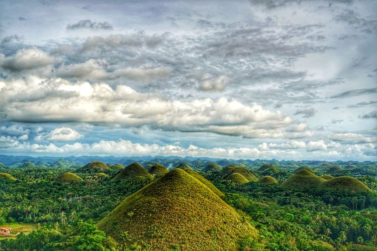 The chocolate Hills HDR Philippines Photos Bohol Photos Cloudpark Hdr Edit Bohol Bohol Island Bohol Philippines Travel Streamzoofamily Bohol Adventure Light And Shadow Chocolate Hill The Chocolate Hills Hill Hills Tree Tea Crop Storm Cloud Agriculture Rural Scene Mountain Multi Colored Dramatic Sky Sky Atmospheric Mood Moody Sky Romantic Sky Dramatic Landscape Cloudscape Colorful