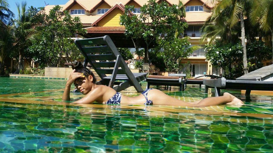 Swimming Swimming Bikini Bikini Time❤ Relaxing Enjoying Life Happy People Nature Pool Time Lalita😊