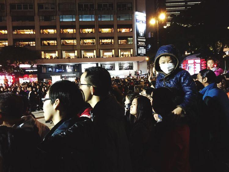 Hong Kong Chinese New Year Parade Night Child People