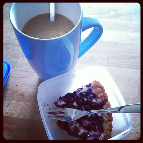 Blueberry Pie and Coffee. Yummy!