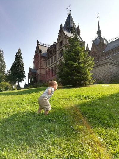 Charge... Drachenfels Childhood Castle Field Green