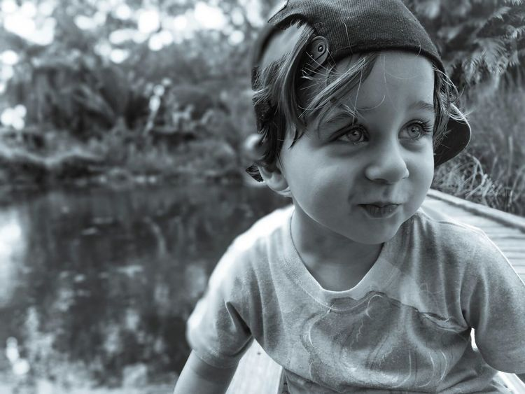 Portrait Childhood Child Headshot One Person Outdoors Day Water Nature Close-up Toddler  Boy Cute Beautiful Eyes Bigeyes Explorer Adventure Learning Life Florida Spring Summer Toddlerhood Boyhood The Photojournalist - 2017 EyeEm Awards The Portraitist - 2017 EyeEm Awards EyeEmNewHere Live For The Story