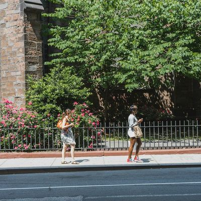 Girls on the SidewalkAcross near Old Limelight Streetphotography 50mm Urban NYC avenueofamericas chelsea