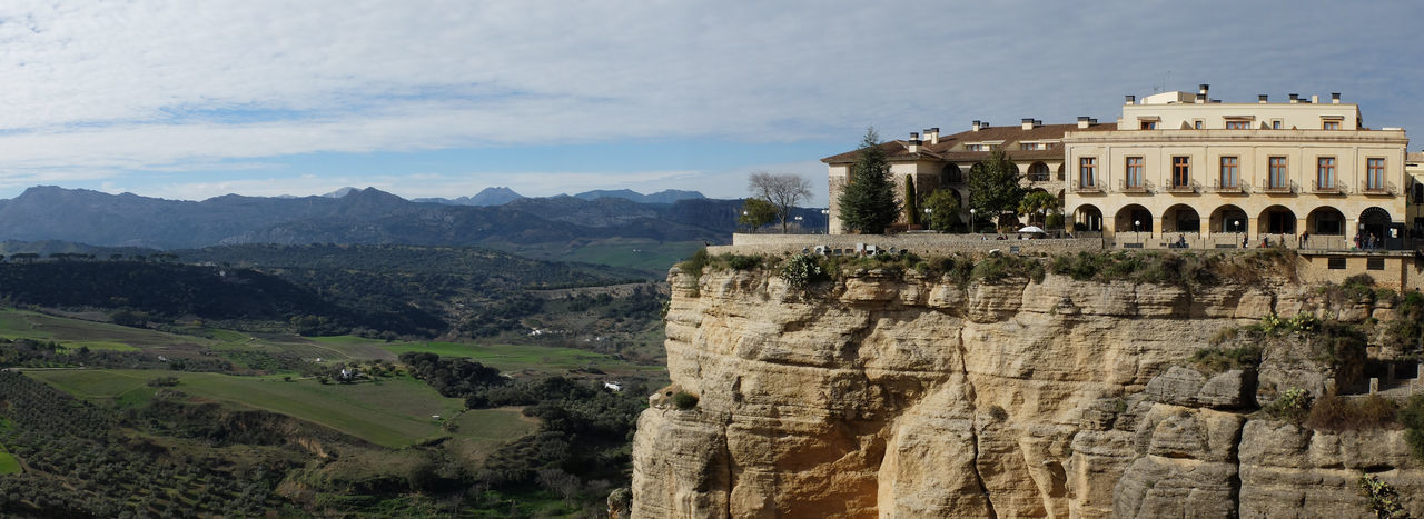 Parador, Ronda Ancient Architecture Building Exterior Built Structure City Day History Hotel With A View Mountain Mountain Range Nature No People Outdoors Panorama Parador Hotel Ronda Ronda Spain Sky Tourism Travel Travel Destinations