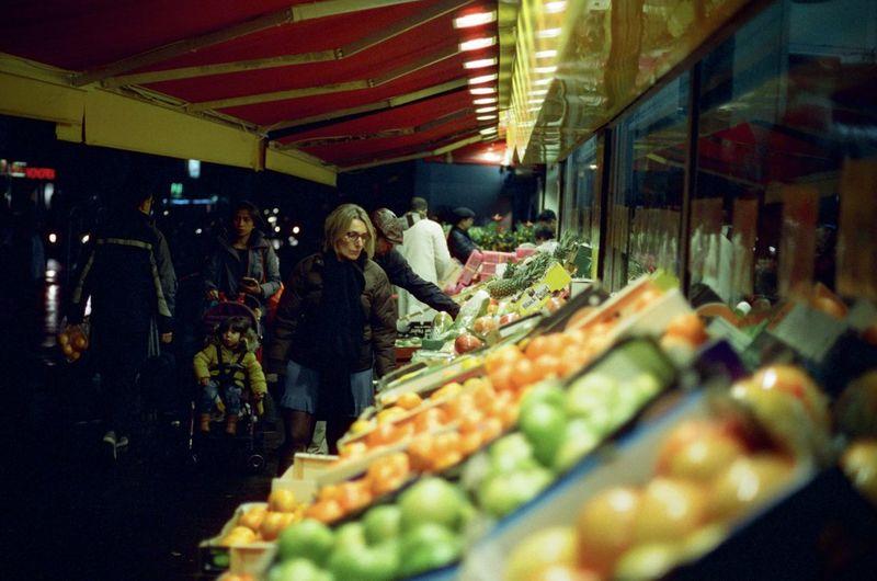 CineStill 800T Nightphotography Nikon F4 Cinestill Store Streetphotography Supermarket
