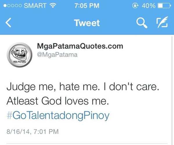 Twitter @Amerbalindong GoTalentadongPinoy