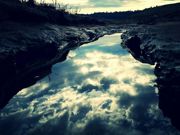 Stream Reflection Clarity Sky Water Reflections Clouds