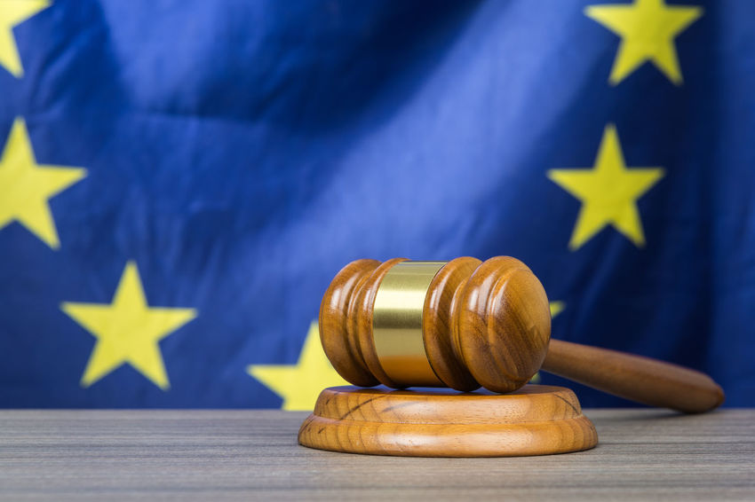 Court gavel with European Union flag in the background, as a legal concept Authority Court Decisions European  Human Rights Politics Rules Union Eu Europe Flag Gavel Government Intellectual Property Judge Judgement Justice Law Lawsuit Legal Legislation Order Symbol System Verdict