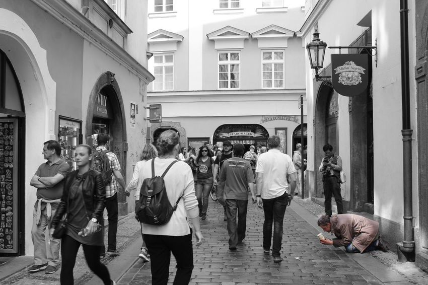 Coloursplash Blackandwhite Beggar Streetphotography Architecture Building Exterior Large Group Of People Real People Lifestyles City Crowd Homeless People People Photography EyeEmBestEdits EyeEmNewHere Eyem Gallery Popular Photos