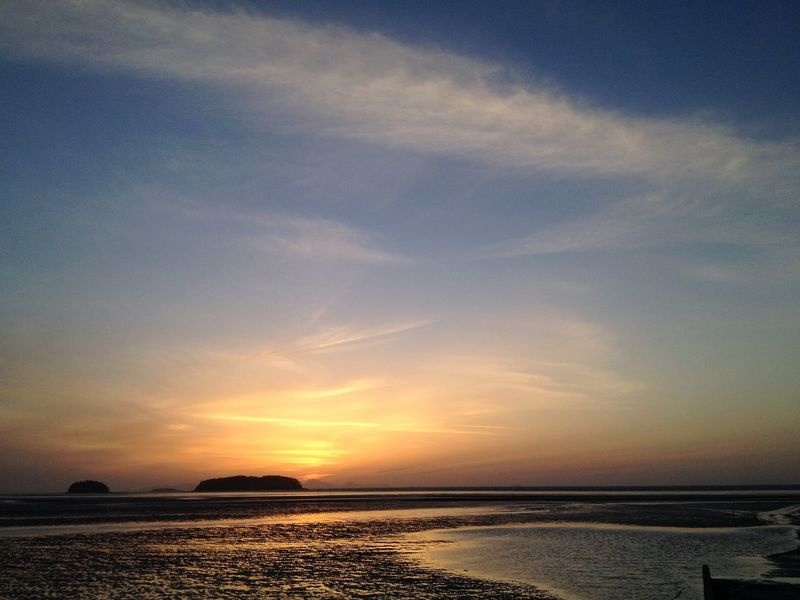 Sunset at the beach Korea UNESCO Biosphere Reserve Gochang