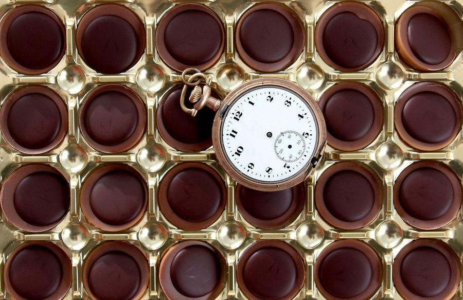 toffifee Chocolate Nuts Toffifee Vintage Clock Clock Clock Face Close-up No People Sweet Food Time Toffee