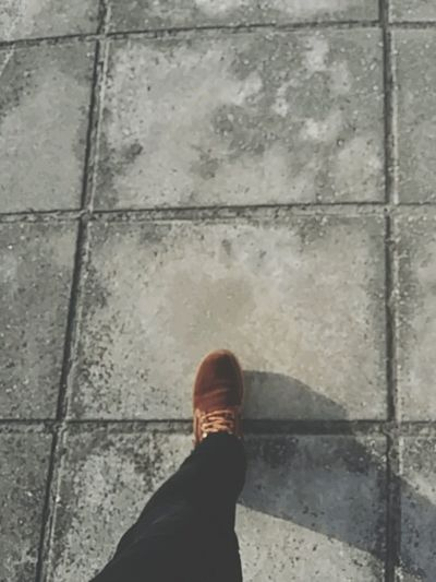 Walking Around How I See My World Hanging Out Brown Boots Footpath Sidewalk Concrete EyeEm Gallery EyeEm Best Shots Streetphotography Everybodystreet Showcase March Eyeem4photography Pathway Path Mobile Photography Smartphone Photography
