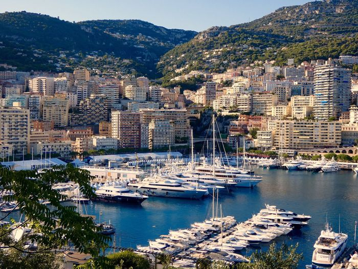 .MOnaco (sorry) Building Exterior Water Built Structure High Angle View No People Day Nautical Vessel Outdoors Mode Of Transport Sea Sunlight Mountain City Cityscape Nature Tree Yacht Beauty In Nature My Best Travel Photo