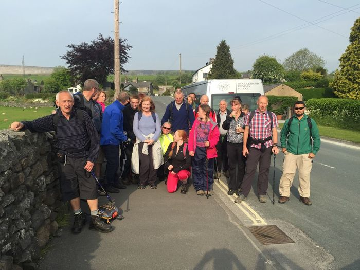 Setting off for Yorkshire Three Peaks challenge