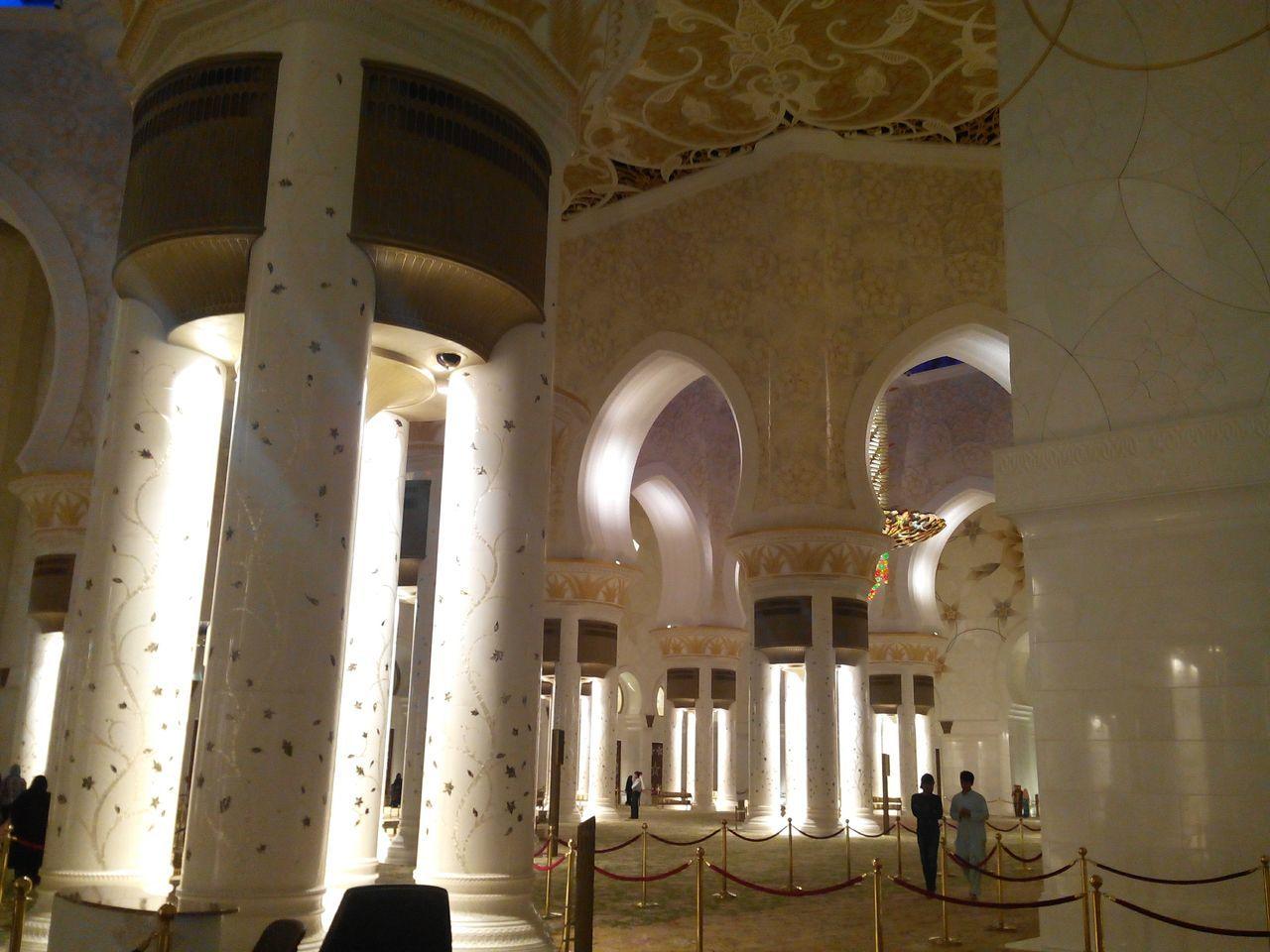 Interior Of Illuminated Mosque