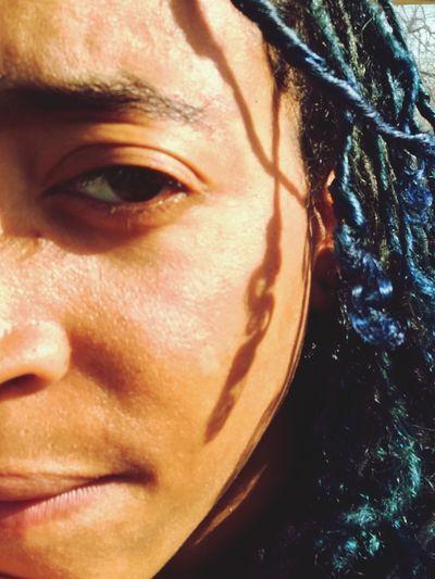 Blue Crush PhoneEdits PhonePhotography Sunny Day Selfie Blue Hair King Transman Dreadlocks Close-up This Is Masculinity People