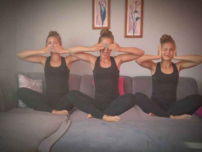 Hi! Three Clever Monkeys 🙈🙉🙊 No Photoshop ❗❗ Almost ... Funny Faces Funny Pics 🐒 Peace ✌ And Love ♥