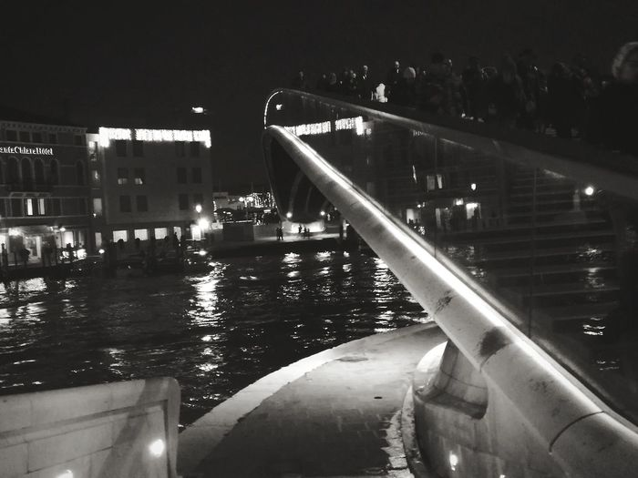 Ponte Di Calatrava Venezia Water Night Outdoors Swimming Pool No People Architecture
