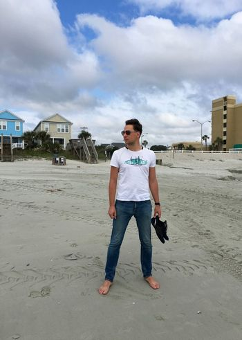 Beach Photography South Carolina Surfside Beach USA USAtrip America Architecture Beach Building Exterior Built Structure Casual Clothing Fashion Front View Full Length One Person Outdoors Real People Standing Young Adult Young Men #FREIHEITBERLIN #FREIHEITBERLIN The Fashion Photographer - 2018 EyeEm Awards The Portraitist - 2018 EyeEm Awards The Traveler - 2018 EyeEm Awards