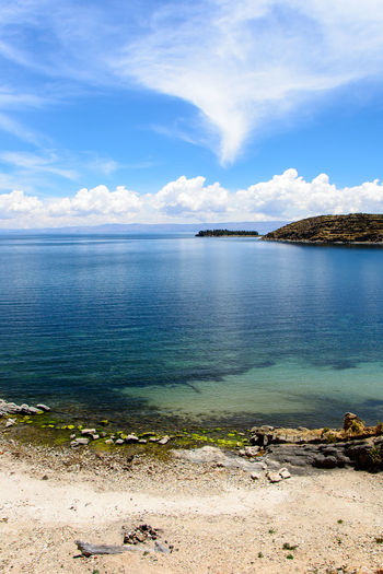 Bolivia Isla Del Sol Titicaca Travel Blue Cloud - Sky Day Landscape Nature No People Outdoors Scenics Sky Tranquil Scene Tranquility Water