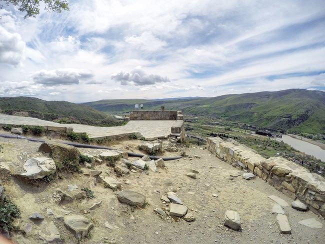 Architecture ASIA Beautiful Caucasus Cloud - Sky Day Fisheye FishEyeEm Georgia Gopro Goprohero4 High Angle View Jvari Jvari Monastery Landscape Mccheta Monastery Monastery Of Stone Nature No People Orthodox Church Outdoors Sky Spring Tbilisi