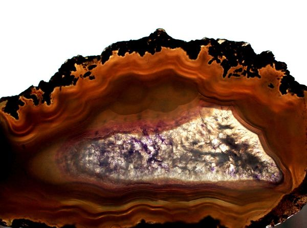 Agate Stone Close-up Crystal Geology Light Through Agate Slice Natural Beauty Natural Formation Natural Pattern