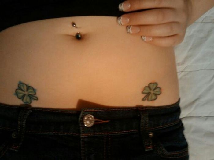 Luck of the Irish, my first tats when I was 17 Inked Inkedlife Luck Of The Irish Tattoos