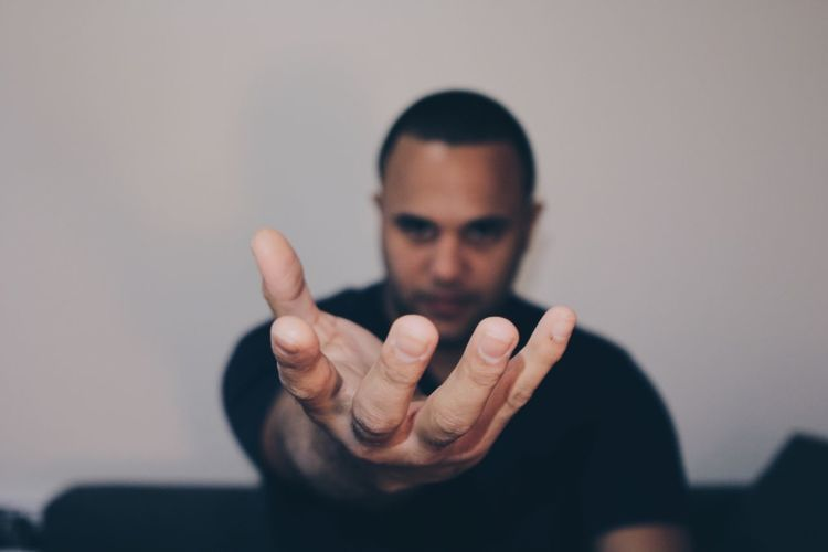 Human Hand Gesturing Showing Human Finger One Person Focus On Foreground Portrait Thumbs Up Men Horn Sign Businessman Indoors  One Man Only Close-up Day People