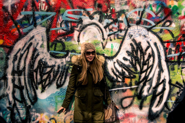 Art Art And Craft Creativity Graffiti Human Representation John Lennon Lennonwall Multi Colored Mural Painting People People Photography People Watching Peoplephotography Sculpture Street Art Wall - Building Feature