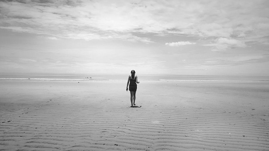 Tranquility Tranquil Scene Beach Sea Sky Outdoors Black And White Photography The Great Outdoors - 2017 EyeEm Awards
