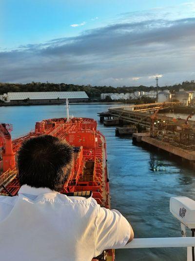 Cargo Ship Nautical Theme Life Onboard Tanker Ship Water Nautical Vessel Sea Harbor Red Sky
