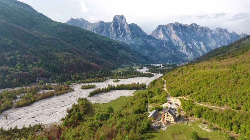 Albania Dronephotography Mountain Landscape Scenics Mountain Range Nature Beauty In Nature Outdoors Hiking High Angle View Green Color Panoramic Tranquility Mountain Peak Lake Travel Destinations No People Adventure Day Summer Sky Perspectives On Nature