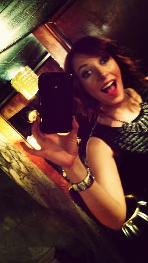 omg bathroom mirror selfie! ;) Happy Birthday Selfie Excited Fun