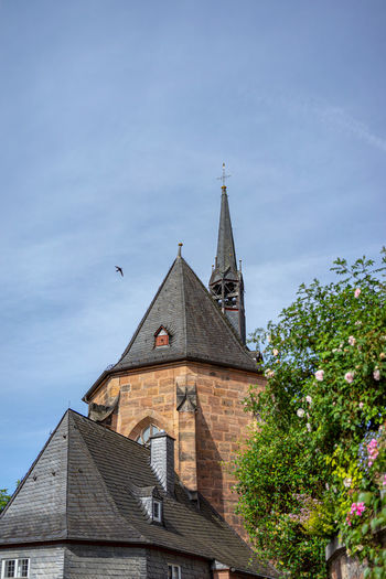Built Structure Architecture Building Exterior Building Sky Place Of Worship Religion Belief Spirituality Low Angle View No People Nature Spire  Tower Day History The Past Outdoors Marburg An Der Lahn Kugelkirche Turm