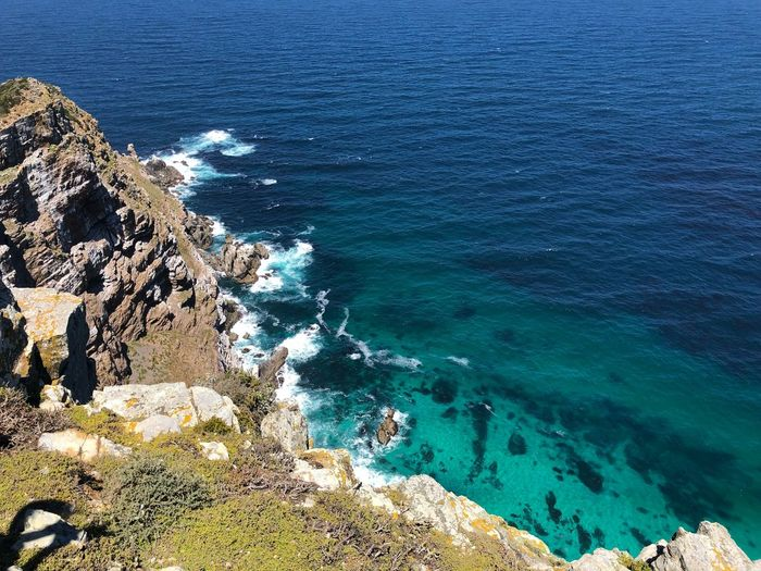 Cape Point, South Africa Cape Point South Africa IPhoneography Water Sea Beauty In Nature Blue Rock Land Beach Idyllic