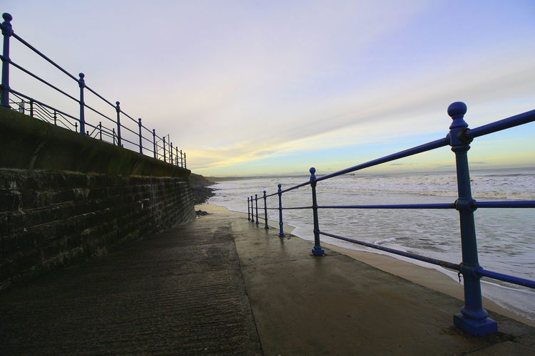 OUT AND ABOUT IN HARTLEPOOL Sky Water Sea Nature Sunset Scenics - Nature Tranquil Scene Railing Beauty In Nature Tranquility Horizon Architecture Pier Horizon Over Water Beach No People Land Outdoors Built Structure Promenade