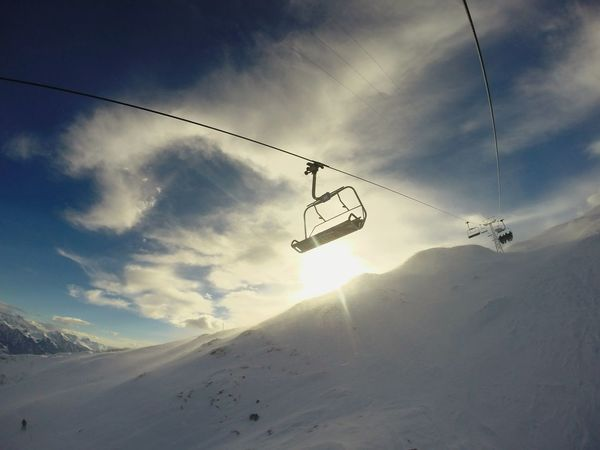 Snowboarding in Switzerland Snow Winter Landscape Skiing First Eyeem Photo