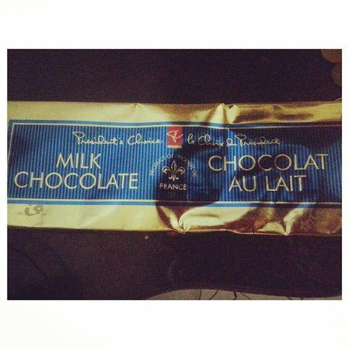 Not my choice but PresidentsChoice Chocolataulait ma, @hrovie you're sick so gimme all your candy MUAHAHAHA Chocolates
