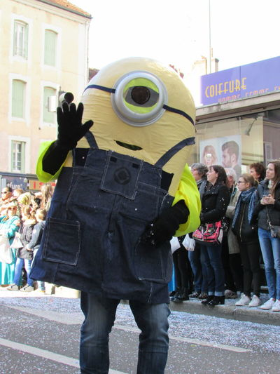 Hello World Taking Photos Minion  Minions Characters Carnaval Carnaval 2017 French Carnaval City Coworker Outdoors EyeEm Gallery Photograph Photographie  Photography Photographer