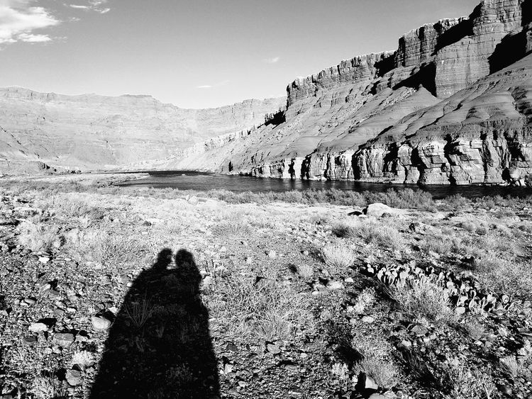 Black And White Friday Glen Canyon National Recreation Area, AZ Lees Ferry Arizona Colorado River Desert Riffle Desert Animal Themes Shadow Cliff Cliffs Cliffside Mountain Outdoors Nature Day Sky Landscape Beauty In Nature No People EyeEmNewHere
