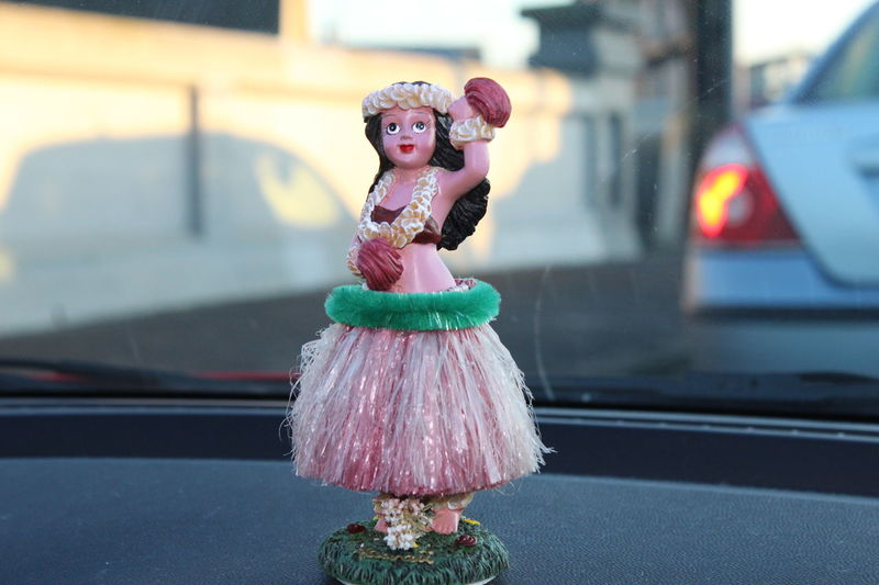 Aloha! Aloha Car Decor Decoration Doll Dolls Eye4photography  Focus On Foreground Hawaii Holiday Holiday Time Ladyphotographerofthemonth Multi Colored On My Way On My Way To Work!  Something New Street