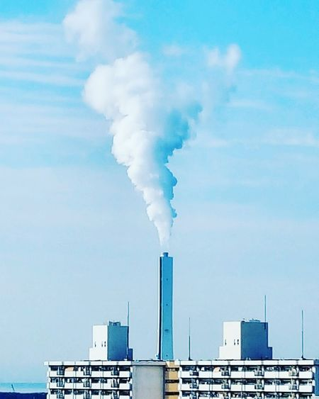 Hi~ Fuel And Power Generation Smoke - Physical Structure Environment Environmental Issues Factory Air Pollution Social Issues Business Finance And Industry No People Industry Outdoors Day japan