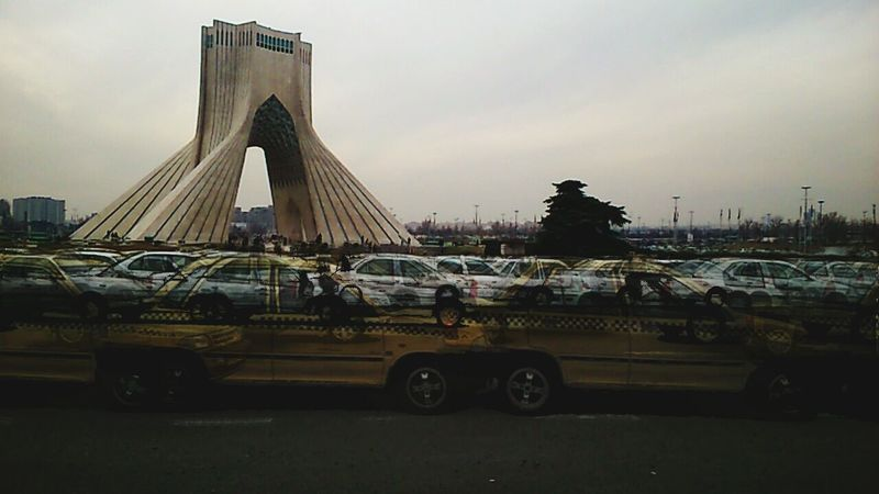 Under Pressure Traffic Azadi Tower In Tehran