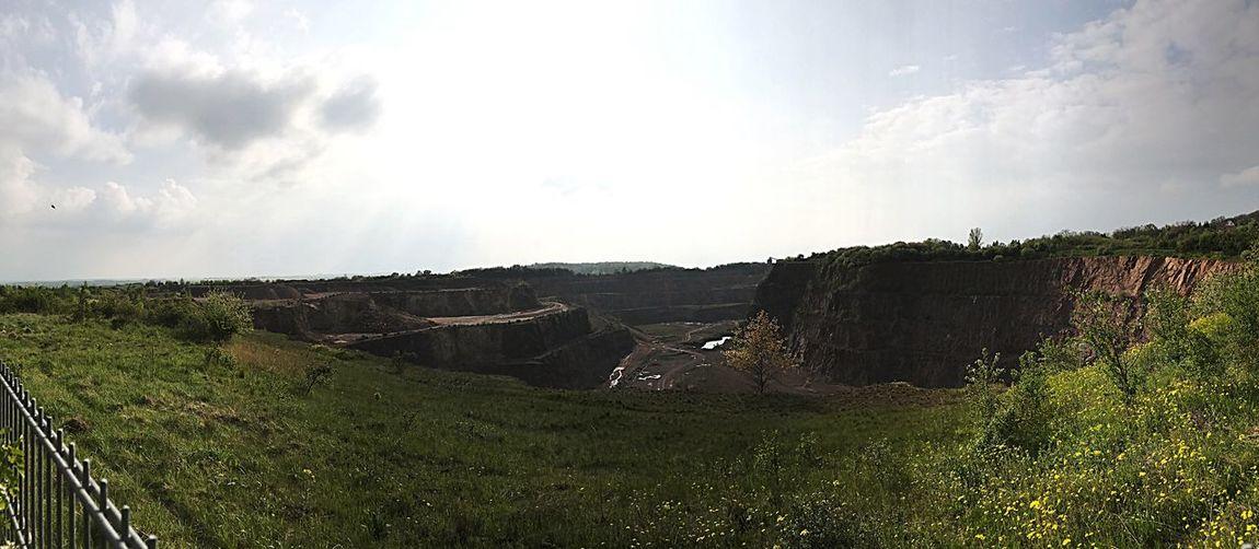 Tagebau Petersberg Nature Landscape Cliff